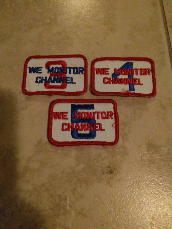 Circa 1970s Channel 3,4,5  Patches NOS Unused