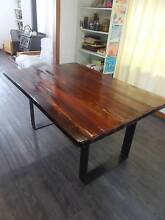Rustic industrial salvaged jarrah and raw steel dining table Fremantle Fremantle Area Preview