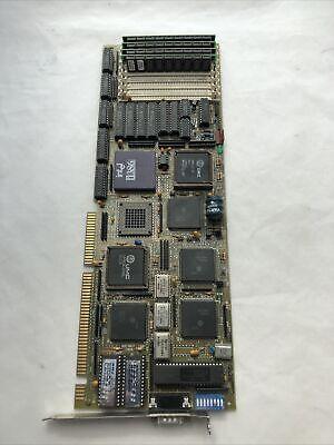 386 Dx 25mhz Sbc Single Board Computer Card W Cpu 4mb 30-pin Simm Ram Cache