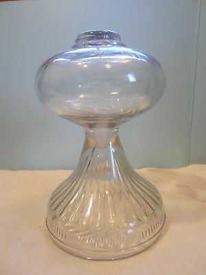 """Antique Vintage 9""""  Glass Oil Lamp With Out Chimney,"""