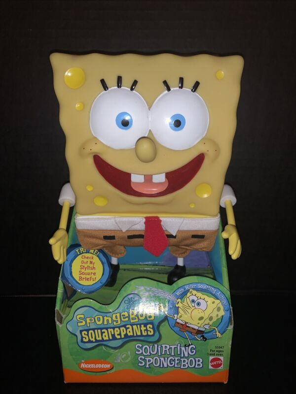RARE Spongebob Squarepants Squirting Spongebob NEW Collectible Toy Mattel
