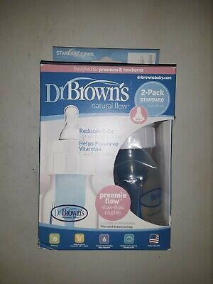 DR BROWN'S NATURAL FLOW® 2- PACK STANDARD 2 OZ / 60ML BABY BOTTLES