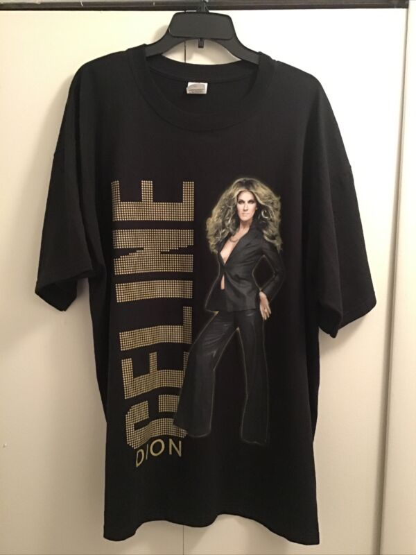 Anvil Celine Dion World Tour 2008 Black Concert Tee Shirt Size 2X