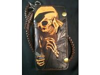 $49.75 without chain. Tooled Biker Wallet