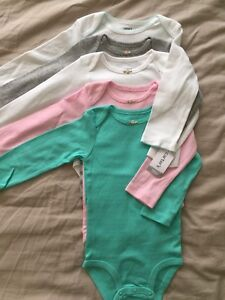 Carters long sleeve onesies, size 18months