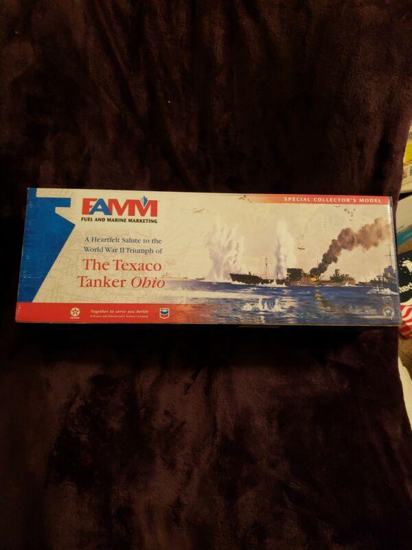 FAMM Fuel/Marine Marketing Texaco Tanker Ohio w/Display Base #02355 New In Box !