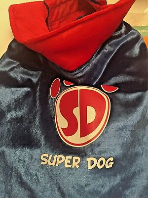 Super Dog Costume Cape. Size Medium 14-18