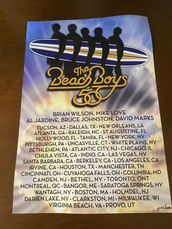 Beach Boys 50Th Anniversary Tour Collectors Poster Numbered