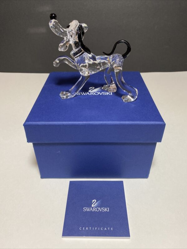 Swarovski Crystal Figurine Disney Pluto Dog With Box