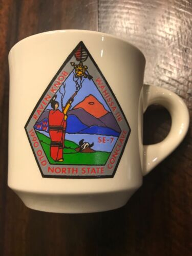 Vintage Boy Scout BSA Coffee Cup Mug 1990 Old North State Conclave Wahissa 118