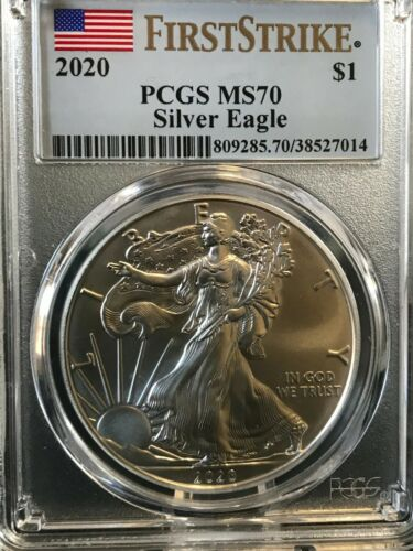 2020 $1 American Silver Eagle PCGS MS70 First Strike - Sweet Coin