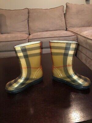 Burberry Kids Nova Check Rain Boots