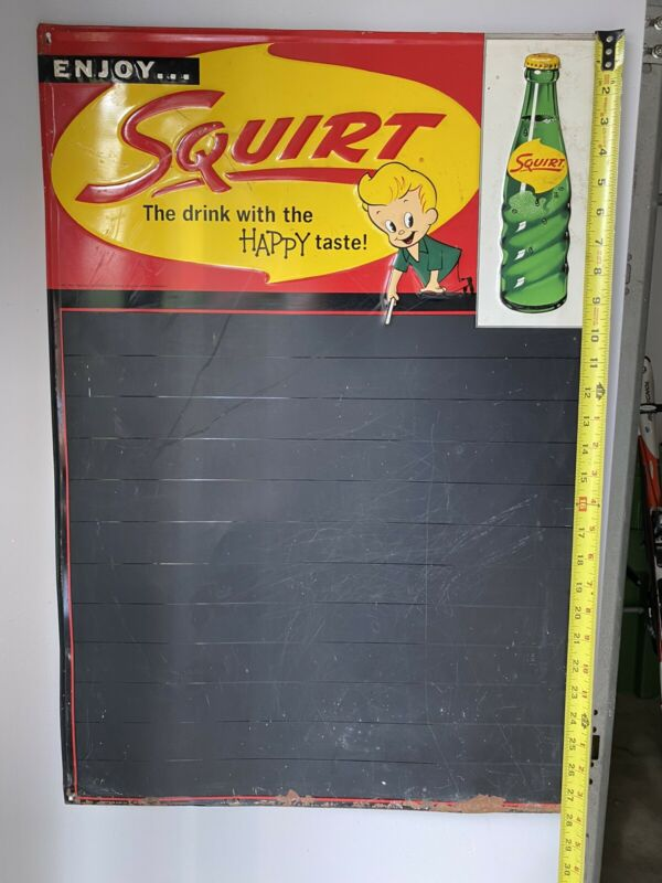 "1959 Squirt ""The drink with HAPPY Taste"". Metal Sign"