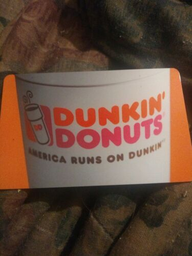 Dunkin Donuts Used Collectible Gift Card No Value 10229636263 - $1.88