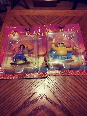 2 - DISNEY COLLECTABLE FIGURES, ALADDIN & PRINCE UNCOUTHMA, 1994, TV SERIES