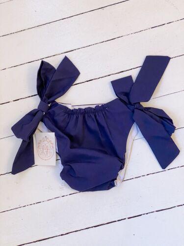 NWT: Beaufort Bonnet TBBC Navy Side Tie Bloomers 2t / 3t