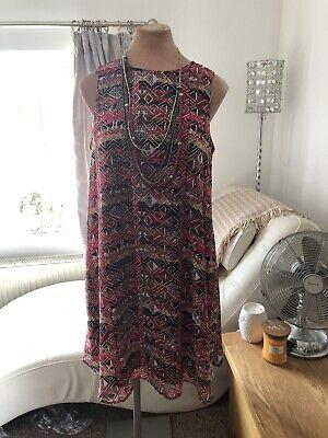Red A Line 14 Dress Julian Taylor New York Designer Red Mix Stunning Shift Dress