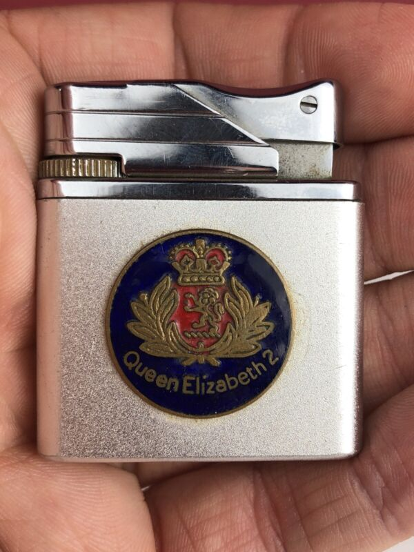 Vintage Queen Elizabeth 2 II Roland Flip Lighter