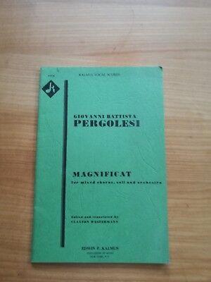 Noten. Pergolesi. Magnificat. Klavierauszug.