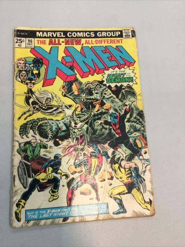 Uncanny X-men 96 Marvel Comics 1975 Bronze Age LOW GRADE