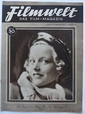 * Filmwelt * Heft Nr. 38/ 20.9.1931, Foto Garbo Weimarer Republik, Original!