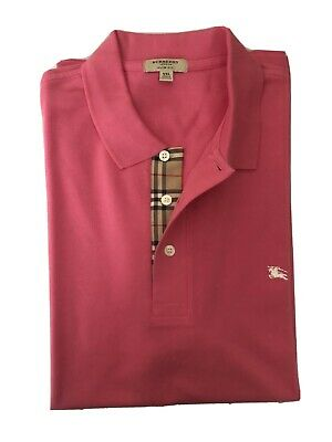 Burberry Men Polo Shirt Slim Fit, Pink Size XXL