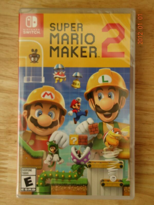 Nintendo Switch, Super Mario Maker 2 -- Brand New !!