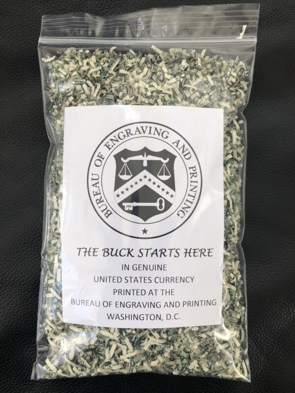 100% Real Shredded Cash Money Currency $300.00+ / 2 Oz bag  ~ Free  Shipping