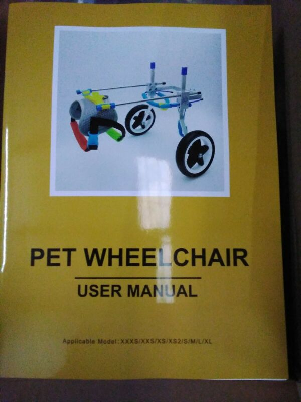 Light Aluminum Alloy Pet Wheelchair for Handicapped Hind Legs Dog or Cat