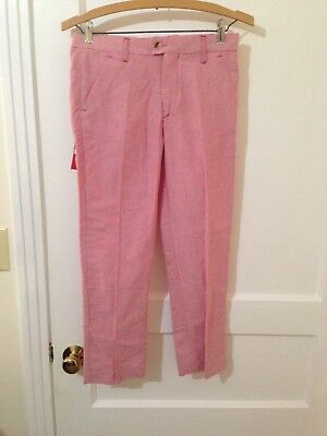 (G68) NWT Elie Balleh Red Boys Oxford Cloth Trousers Italy 14 New Dress Pants](Boys Red Dress Pants)