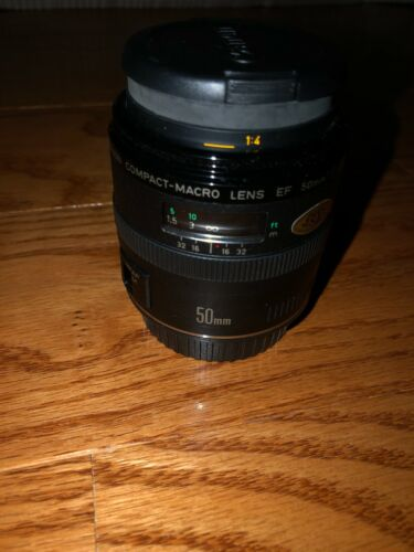 Canon EF 50mm f/2.5 Compact Macro Lens With Hoya UV Filter