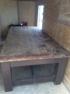 ANTIQUE MAPLE TABLE OR BENCH