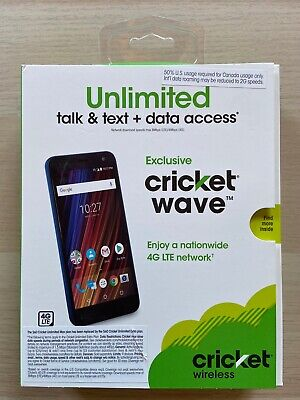 CRICKET WIRELESS EXCLUSIVE CRICKET WAVE PREPAID  CELL PHONE NEW