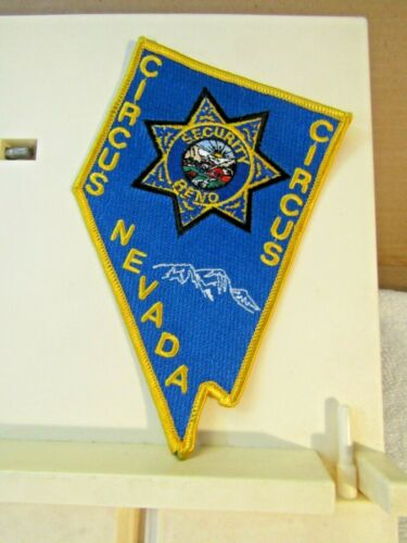"Reno Nevada Circus Circus Hotel & Casino Security Officer Patch NOS 5.5"" tall"