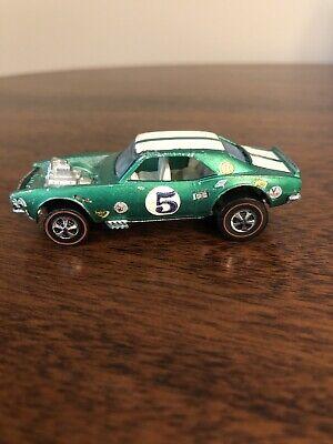 Vintage 1969 Hot Wheels Redline  Heavy Chevy Green With Decals