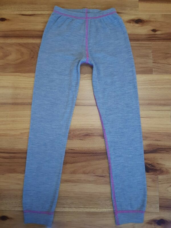Cubus Thermal 100% Merino Wool Baselayer Leggings Size 122-128cm 6-8 Years