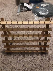 Wood thread bobbin rack