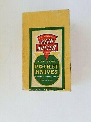 Vintage~ Antique~ Keen Kutter Empty~ Knife Box ~ 1950s Era USA