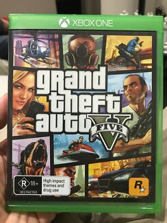 Grand Theft Auto Five Xbox One Game including add on code