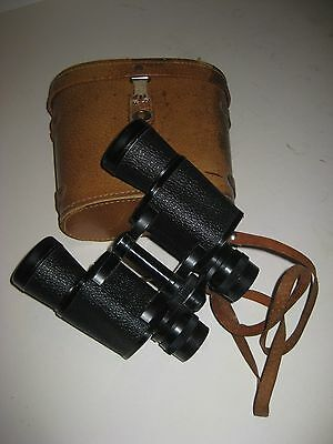 Vtg Skyline Japan / 7x35 Field 7 Degree Binoculars / Orig Leather Case / #59236