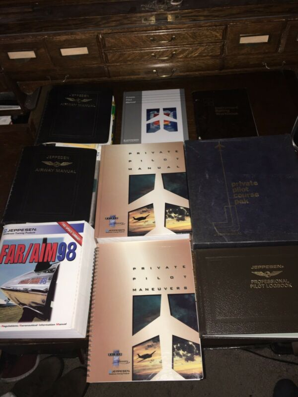 Lot Of 9 Jeppesen Course Aviation Books