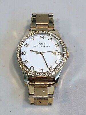 Mark Jacobs Gold Watch with Crystal Rim MBM1145