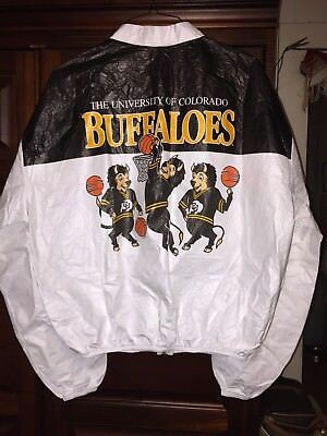 Colorado Buffaloes Tyvek Jacket Vintage Phillips 66 Big 8 Basketball X Lg NOS