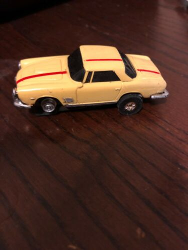 Aurora Thunderjet Yellow Maserati slot car