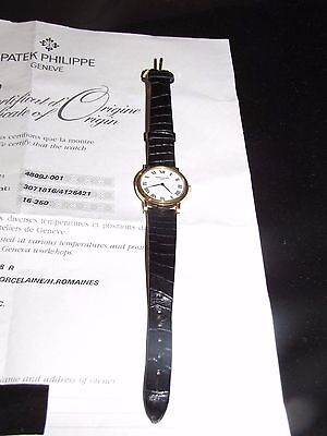 "PATEK PHILIPPE ""Calatrava"" Women Watch 18K Gold Ref 4809J-001"
