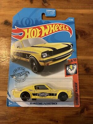 HOT WHEELS 1:64 SCALE 2019 MUSCLE MANIA '65 MUSTANG 2+2 FASTBACK, 8/10, 72/250