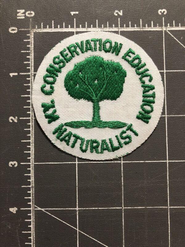 Vintage Kentucky KY Conservation Education Naturalist Patch KCE Officer Dept KY.