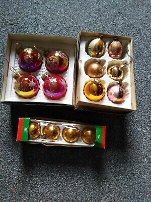 14 Vintage Christmas Tree Glass Baubles