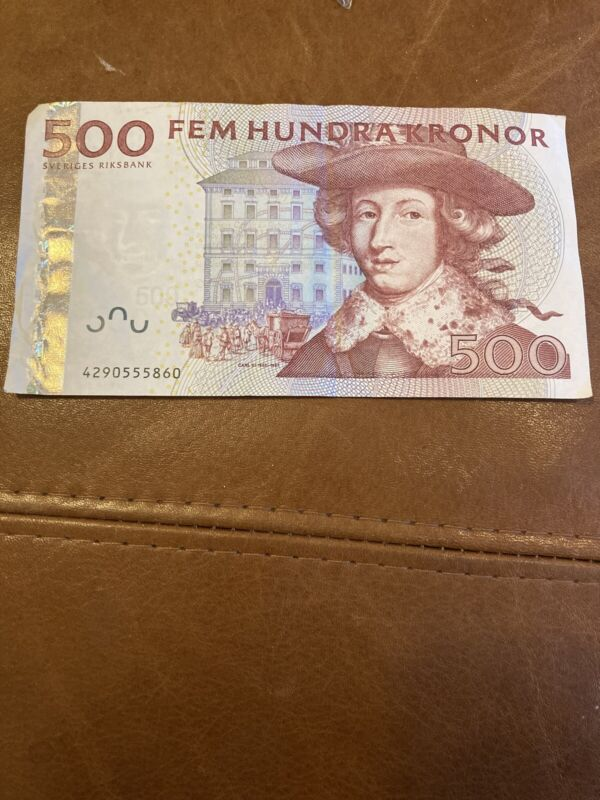Sweden 500 kronor Circulated Banknote
