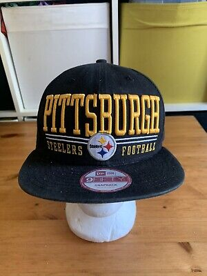 New Era 9FIFTY NFL Pittsburgh Steelers Baseball Cap Medium Large Snapback